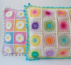 Dada's place: More crochet pillows- Love the edge