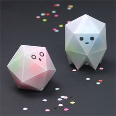 Make these cute see-through origami ghost boxes - DIY wax paper and folding tutorial with templates
