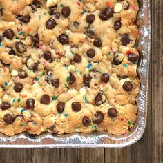 We love Cookie Cake, especially the corner pieces. #yummy #celebrate #icallthecornerpiece #omg #whoateit #seriously #neverdisappoints #chips #sprinkles #confetti #EEEats #nom #sweet #nyccookiedo