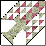 Tree of Paradise quilt block pattern