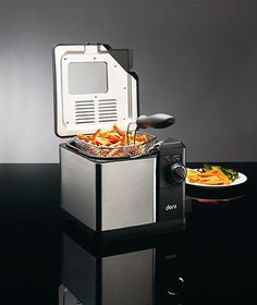 Deni Deep Fryer is perfect for your favorite quick snacks. Fry chicken, vegetables, potatoes, onions, and more. The electric unit features cool touch handles and lid and an odor eliminating filter. Easy to use and easy to clean, this deep fryer is the perfect addition to any family's kitchen appliance collection.