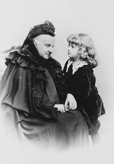 Princess Clementine of Saxe Coburg and Gotha, nee Princess of Orleans, with her grandson Prince Luitpold of Bavaria; 1894.