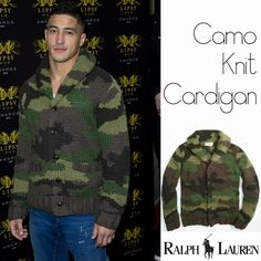 Male Fashion Trends: Ashley McKenzie y su Camo Knit Cardigan de Ralph Lauren