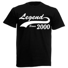 Legend 2000 T-Shirt, mens 18th birthday gifts presents, gift ideas for men boys | Clothes, Shoes & Accessories, Men's Clothing, T-Shirts | eBay!