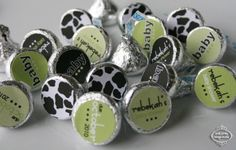 MOO COW  Printable Candy Stickers  Baby Shower by MakeLifeCuteShop, $12.50