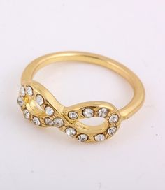 Back in stock:  CRYSTAL INFINITY KNUCKLE RING @ www.ForEveryBella.com
