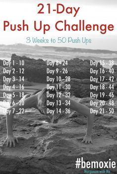 In only 21 days you'll create a habit and build your strength! Grab a friend to do it with you!