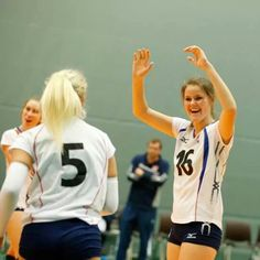 Team Norway scores at the qualifier for the 2014 CEV U19 Volleyball European Championship - Women