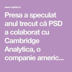 Presa a speculat anul trecut că PSD a colaborat cu Cambridge Analytica, o companie americană… New York Times, Scandal, Cambridge, Netflix, Film, Movie, Film Stock, Cinema, Films