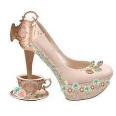 Alice in Wonderland teapot heels!