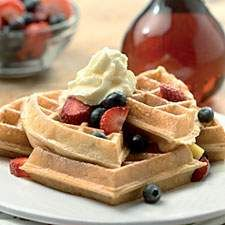 When you have sourdough starter to feed and take care of, and don't have time to make bread, waffles are the answer. This batter also makes great pancakes.