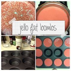 """""""I was surprised by all the likes on my jello fat bomb picture before, so I thought I'd share it again with all steps included! Strawberry jello (or any…"""""""
