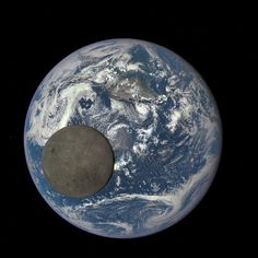 Our home & our sidekick. -- regram @nasa The far side of the moon illuminated by the sun is seen as it crosses between our 'EPIC' camera on the Deep Space Climate Observatory (DSCOVR) satellite and the Earth - one million miles away.  This image was captured by NASA's Earth Polychromatic Imaging Camera (EPIC) a four megapixel CCD camera and telescope on the DSCOVR satellite orbiting 1 million miles from Earth. From its position between the sun and Earth DSCOVR conducts its primary mission of…