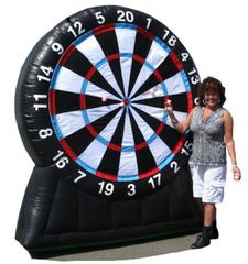 Inflatable Bull's Eye Dart Board. Fundraiser. Party rental