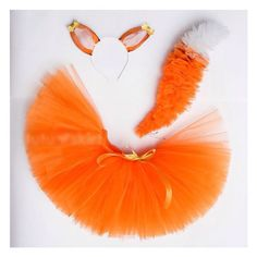 tutu with tail and ears Diy Girls Costumes, Creative Costumes, Diy Tutu, Fox Crafts, Diy And Crafts, Fox Costume, Robes Tutu, Holiday Costumes, Halloween Disfraces