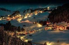 Деревня Бергенцервальд, Австрия
