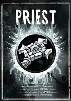 World of Warcraft: Priest Class Symbol print/poster por SodaArcade