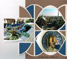 Parc Guell - Scrapbooking, carterie & déco de Nadège Parc Guell, Diy Scrapbook, Deco, Photos, Polaroid Film, Layouts, Storage, Paper Crafting, Template
