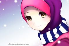 Muslim Anime Qaimasarah : It's snowing by Rahimi-AF.deviantart.com on @deviantART