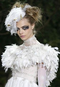 Cara Delevingne at Chanel Spring/Summer 2013 Haute Couture at Paris Fashion Week.