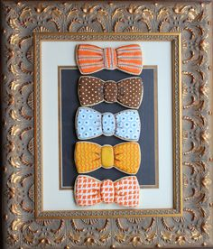 Arty McGoo: Little Man Baby Shower Cookies - Bow Ties can do this but with girly colors as hair bows?