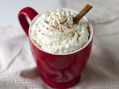Pumpkin-spice latte with whipped cream