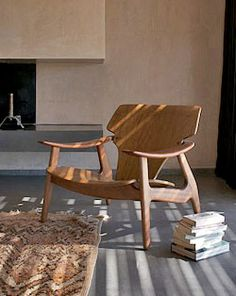 sculptural Danish chair