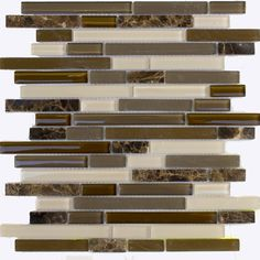 Glass/Stone Mosaic Wall Tile 12in.x12in.x6mm   -      #02049