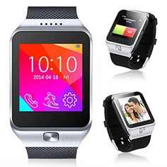 Indigi® 2-in-1 Interconvertible GSM + Bluetooth Smart Watch For All iPhone 6, iPhone 6 plus, iPhone 5s, iPhone 5, Galaxy S5, Galaxy S4, Note 4 etc. (Silver) #Wearables