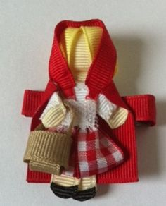 Little Red Riding Hood hair clip on Etsy, $7.00