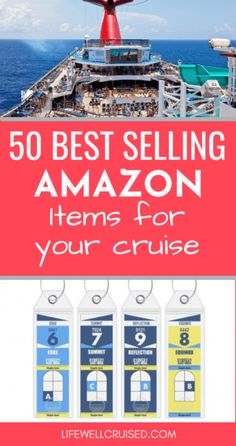 50 Best Selling Amazon Items for your Cruise Packing List For Cruise, Cruise Travel, Cruise Vacation, Disney Vacations, Best Alaskan Cruise, Best Cruise, Cruise Door Decor, Carnival Cruise Tips, Snorkel Set