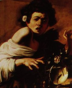 CARAVAGGIO Boy Bitten by a Lizard is a Renaissance painting from historyofpainters.com