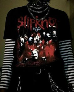 Slipknot discovered by Hellgirl on We Heart It Grunge Goth discovered Heart Hellgirl Slipknot Emo Outfits, Grunge Outfits, Outfits For Teens, Girl Outfits, Summer Outfits, Egirl Fashion, Grunge Fashion, Fashion Outfits, Fashion Styles