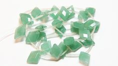 Aventurine diamond kite top drilled briolette beads 12.6-14mm Qty 2