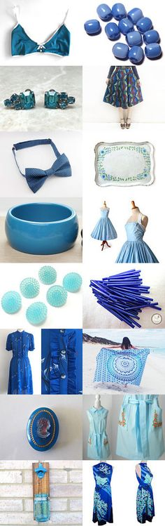 ❤❤❤ BLUE TREASURY ❤❤❤ by Isabelle Don Carli on Etsy--Pinned+with+TreasuryPin.com