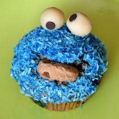 Cookie Monster Cupcake -how cute is this?!?