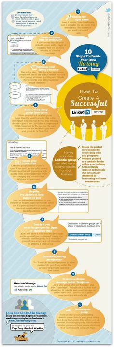 Cómo crear un grupo de LinkedIn exitoso en 10 pasos (infografía) | Paula Barros