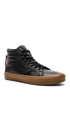 Shop for Vans SK8 Hi Reissue Zip in Black & Gum at REVOLVE. Free 2-3 day shipping and returns, 30 day price match guarantee.