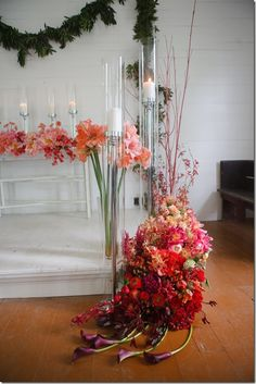 Ombre Coral Red Flowers – shared by Mayesh Wholesale Florist