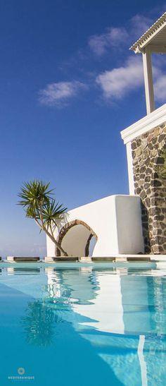 swimming pool at the Iconic - Santorini