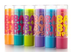 I'm pretty much obsessed with baby lips by maybelline! I want all of them so much. I have the light blue one and it works so well and smells like heaven! ♥♥♥