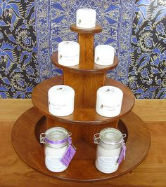 Circular Display Pyramid - retail POS, craft  show display, farmer's market display, craft fair display, point of sale, craft show stand