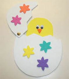 peek-a-boo chick craft for kids