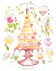 Wedding Cake by Lucile Prache