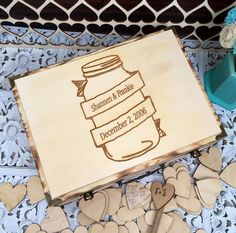 This box is just perfect as a wedding guest book , have all of your guests sign a heart as a remembrance of your special day or use it as a keepsake box for car