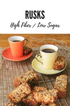 Healthy Rusks Recipe Low sugar & high fiber is part of Rusk recipe - Traditionally South African rusks are full of sugar and fat To turn them into the perfect breakfast snack I came up with a delicious healthy rusks recipe Quick Healthy Snacks, Healthy Baking, Healthy Recipes, Healthy Eats, Rusk Recipe, High Fiber Foods, South African Recipes, Food Tasting, Breakfast Snacks