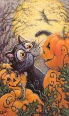 """Tom the Halloween cat"" love the look on his face! Halloween costumes Halloween decorations Halloween food Halloween ideas Halloween costumes couples Halloween from brit + co Halloween Halloween Happy, Halloween Chat Noir, Samhain Halloween, Fete Halloween, Spooky Halloween, Holidays Halloween, Halloween Themes, Halloween Pumpkins, Halloween Decorations"