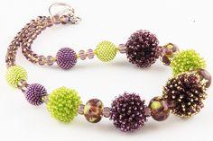 Фиолетово-зеленый | biser.info - всё о бисере и бисерном творчестве