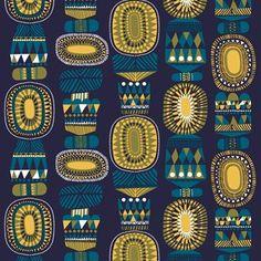 Lamppupampula fabric designed by Sanna Annukka for Marimekko.