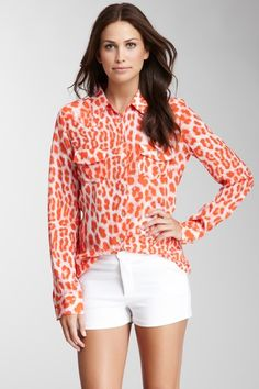 Printed Silk Shirt by My Tribe on @HauteLook